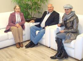 Nayr Zanchin, John Grossmann e Lizete Ozelame na Radio Caxias