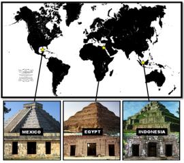 As Pirâmides de Gizé e as três estrelas da constelação de Órion