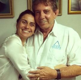 Giovanna Antonelli com o Médium João
