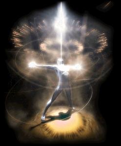 Homem pilar de Luz