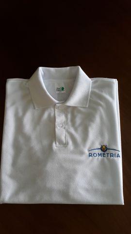 Camisa Polo branca Rometria